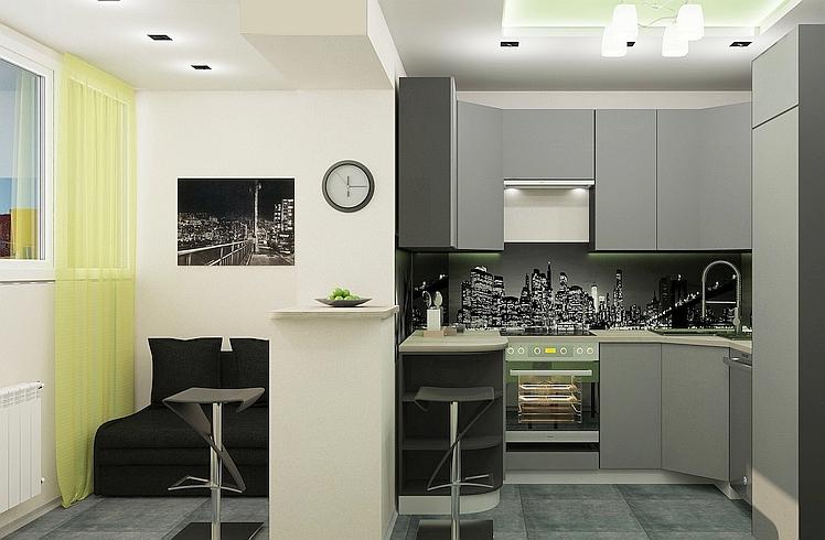 Даже маленькая кухня может быть стильной и удобной.